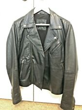 TOPMAN Leather Biker Motorcycle Jacket Men Small S