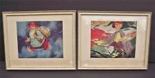 "Pair Vtg Framed UTZ Prints THE SANDMAN & JACK FROST 11 1/2 x 9 1/4"" set print 2"