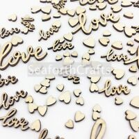Amazing Love and Hearts Wedding Table Decorations Wooden Table Confetti Mix Card