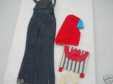 Vintage Barbie Doll Overall Denim Outfit #3488 VHTF Complete 1972 Mod