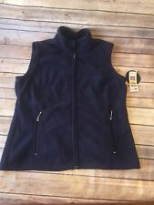 Karen Scott Sports Women's Blue Fleece Mock Neck Outerwear Vest Size M NWT $39