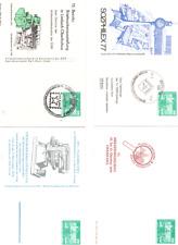 20#1575 PrivatGanzsache DDR 4 Karten SSt  gebraucht ungebraucht