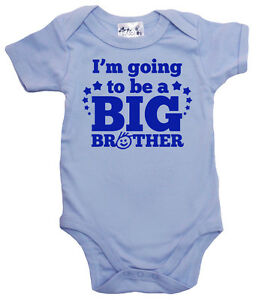 """Dirty Fingers """"I'm Going to be a Big Brother"""" Baby Bodysuit Baby Brother Gift"""