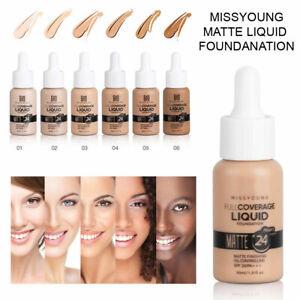 MISSYOUNG Foundation Concealer Make Up Soft Brighten Matte Full Coverage