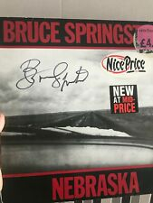 Disco Nebraska firmado por Bruce Springsteen. Certificado. Coa. Signed Album.