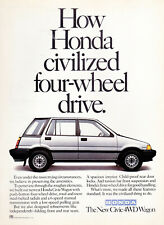 Vintage 1985 Honda Civic Advertisement