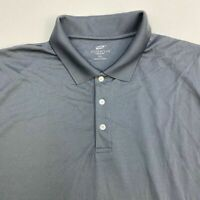 Ultra Club Cool & Dry Polo Shirt Men's 3XL XXXL Short Sleeve Gray 100% Polyester
