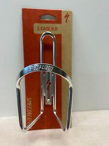 new SPECIALIZED E CAGE 6.0 bicycle aluminum WATER BOTTLE CAGE silver