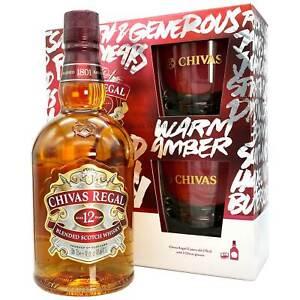 (40,70 EUR/l) Chivas Regal 12 Jahre mit 2 Gläsern in Geschenkverpackung Set