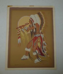 """Woody Crumbo """"Flute Dancer""""  Signed Artist Proof #30/100"""