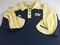 Georgia Tech Polo Shirt Mens XL Dri-Fit Yellow Jackets Golf Student Alumni Grad