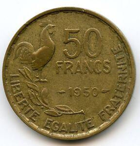 IV Republic (1947-1959) 50 Francs Guiraud 1950 Rare