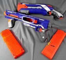 Nerf Guns Lot w/ 2 Dlx Guns RAMPAGE & ROUGHCUT 2X4 Shotgun Kids Toys NERF