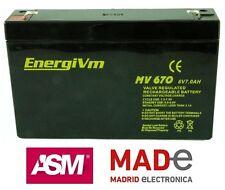Batería de plomo AGM - 6V 7Ah - EnergiVm MV670