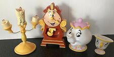 Disney Beauty and the Beast Cogsworth, Lumiere, Mrs Potts y Chip figura Set
