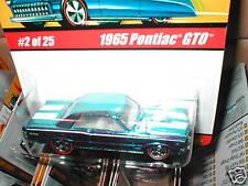 Hot Wheels Classics series 1  #2 1965 PONTIAC GTO light blue