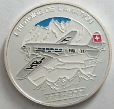 2004 Congo Large Silver Color Proof 1000 fr Airplane-DC-2