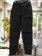 Vintage SUNSET BLUES Black JEANS sz 11 TALL Straight leg  Made in USA