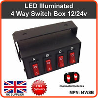 Switch Box 12v 24v Lightbar Beacon Flashing LED Strobes Lights Recovery Truck