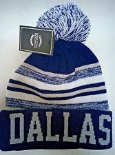 Dallas Cowboys  Team Color Sideline Replica Pom Pom Knit Beanie Hat-NEW SHIPMENT