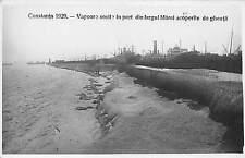 B76162 Constanta 1929 Vapoare sosite in port Marea Inghetata  romania real photo
