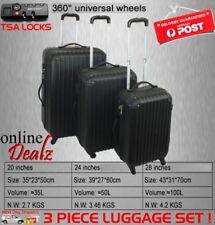 3pc LUGGAGE ULTRA LIGHT suitcase Set ABS trolley hardcase travel bags TSA 3pc