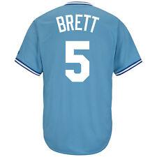 George Brett Kansas City Royals Blue Cool Base Cooperstown Jersey XL