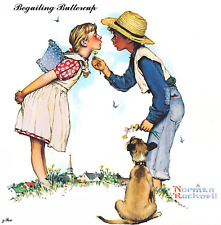 "Norman Rockwell From,Young Love Series Beguiling-buttercup"" Home Decor,Gift her"