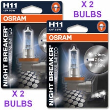OSRAM H11 NIGHT BREAKER PLUS LAMPADINE H11 12V 55W 711nbp (COPPIA) 110%
