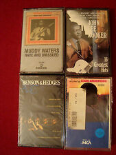 MUDDY WATERS JOHN LEE HOOKER LOUIS ARMSTRONG BENSON&HEDGES BLUES 4 NEW CASSETTES
