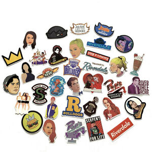 35Pcs Riverdale Stickers for Laptop Skateboard Home Decoration Car Scooter Decal