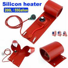 200L / 55Gallon 1000W 110V Silicone Band Drum Heater Oil Biodiesel Metal Barrel
