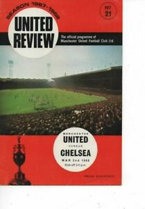 Manchester United v Chelsea 1967/68 Division 1 complete with token