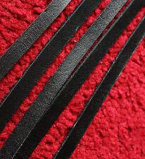 Lot de 5 cuir noir dentelle 190 cm Long 10 mm Large Plat Cordon Bande de 2.5 mm d'épaisseur