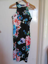 Black & Multicoloured Stretch Cotton Wiggle Ax Dress in Size 8 - mislabelled