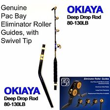 "OKIAYA Venom Pro ""The Savage"" Deep Drop Bent Butt Pac Bay Roller Rod 80-130LB"