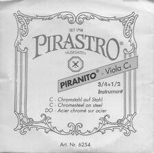 Corde à l'unité Violon Pirastro 3/4 1/2 Violin C4 Do Alto Acier chromé sur acier