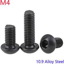 M4 - 0.7 black 10.9 Alloy Steel Hex Socket BUTTON HEAD Screws bolts DIN 7380
