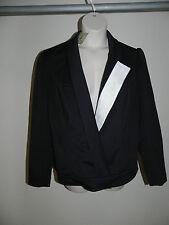 MYNT 1792 PLUS SIZE 24W The Anais Asymmetrical Blazer BLACK WHITE 61141MYNT NWT