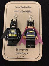 Anniversary Gift Batman And Batgirl Lego Figures Personalised Keyring Saccos