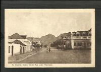 PORTUGAL CAPE VERDE SAN VICENTE JOAO MACHADO STREET OLD POSTCARD VF