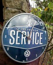 German Volkswagen Classic - VW SERVICE -Bus Beetle - WALL CLOCK Licensed NEW