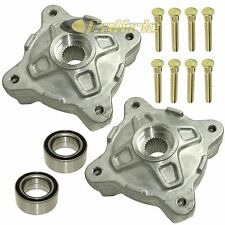 FRONT LEFT RIGHT WHEEL HUBS w/STUDS & BEARINGS Fits POLARIS RZR S 800 EFI 09-14