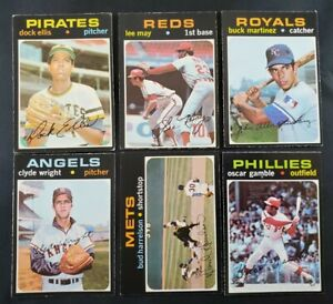 1971 OPC lot of 33 different cards O-Pee-Chee Topps Canada Ellis, Martinez May