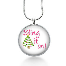 Christmas Necklace, Christmas Tree Pendant, Holiday, Christmas jewelry for women