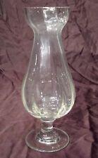 Ancien vase à jacinthe sur pied en verre soufflé fin XIX ème  Ht 23 cm