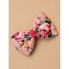 NUOVA stampa rosa Floreale Tessuto Arco Clip Coccodrillo Da Donna Accessorio Per Capelli Moda