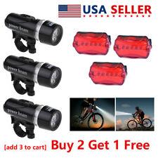 5 LED Lamp Bike Bicycle Front Head Light+Rear Waterproof Safety Flashlight Best
