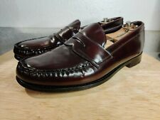 Rare VTG SHELL CORDOVAN PENNY LOAFER MENS SHOES 9.5 C NETTLETON