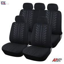 Peugeot Partner Tepee 2008> Black Fabric Full Car Seat Covers Set